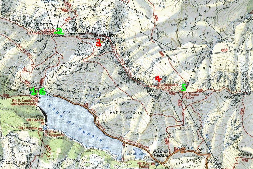 Cartina Tabacco 024.Ferrate Dolomitico Pagina Web Personale